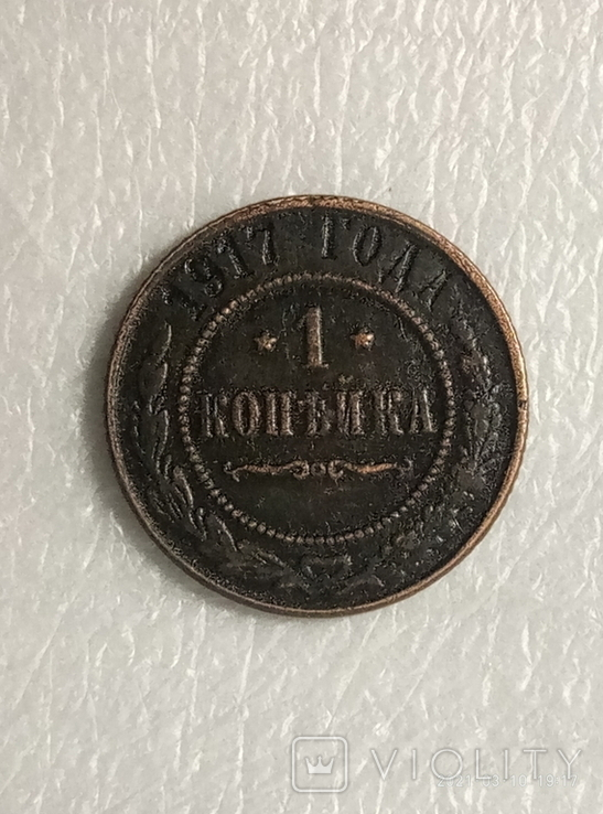 1 копейка 1917 год z292копия, фото №2