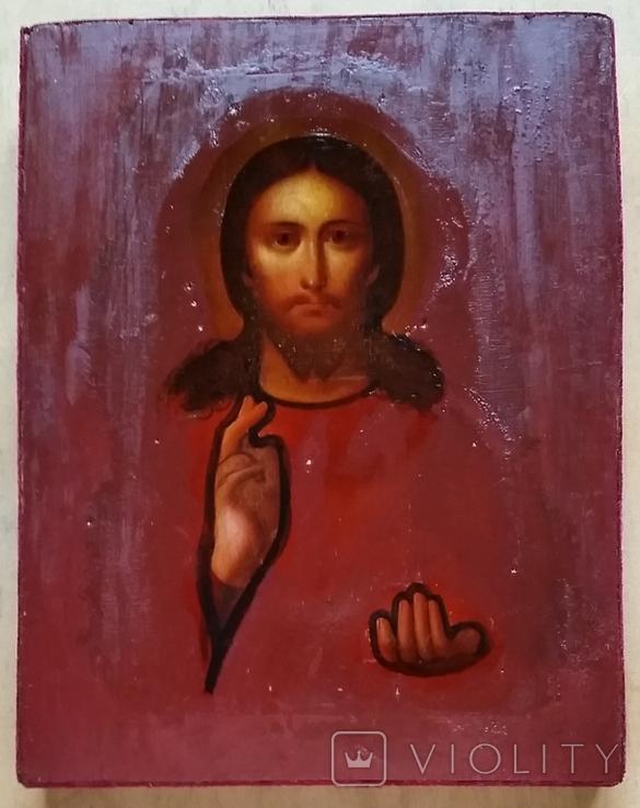 Ікона Ісуса Христа, підокладна, 22,0х17,1 см, фото №3