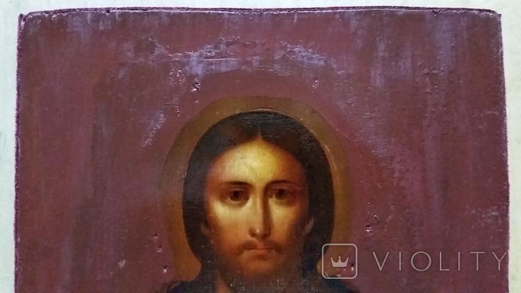Ікона Ісуса Христа, підокладна, 22,0х17,1 см, фото №4