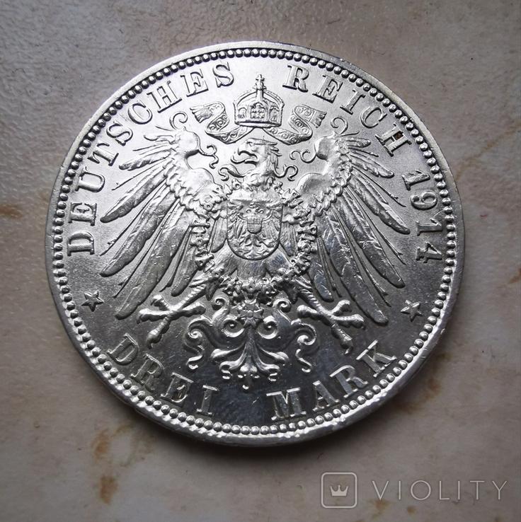 3 марки 1914 года Людвиг III Бавария, фото №3