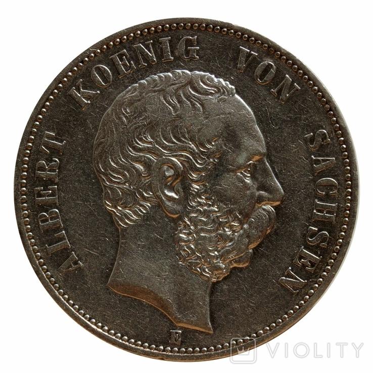 5 марок 1898 р, Саксонія, фото №2