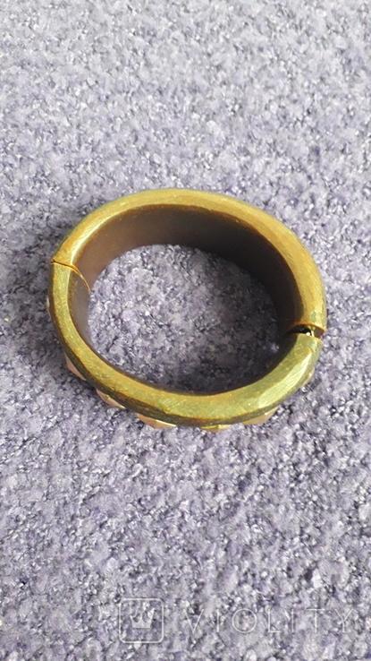 Браслет коричневого тону під дерево, фото №4