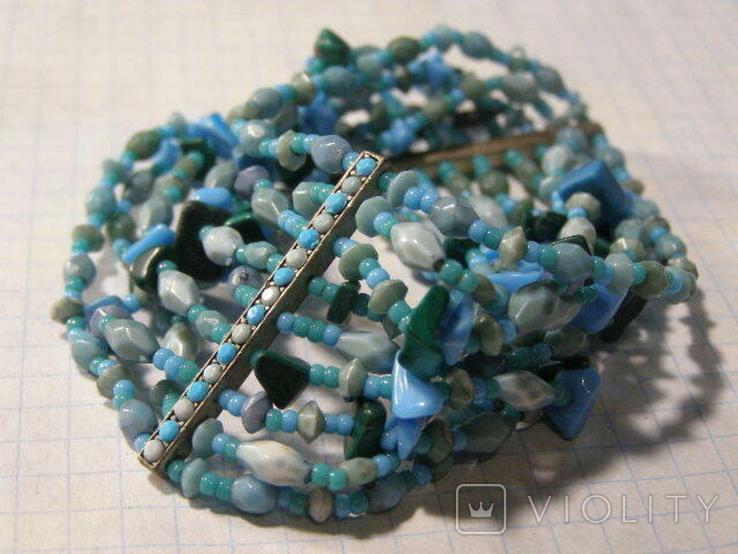 Браслет камень стекло, фото №2