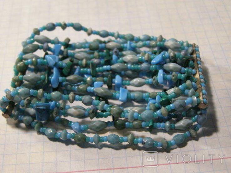 Браслет камень стекло, фото №3