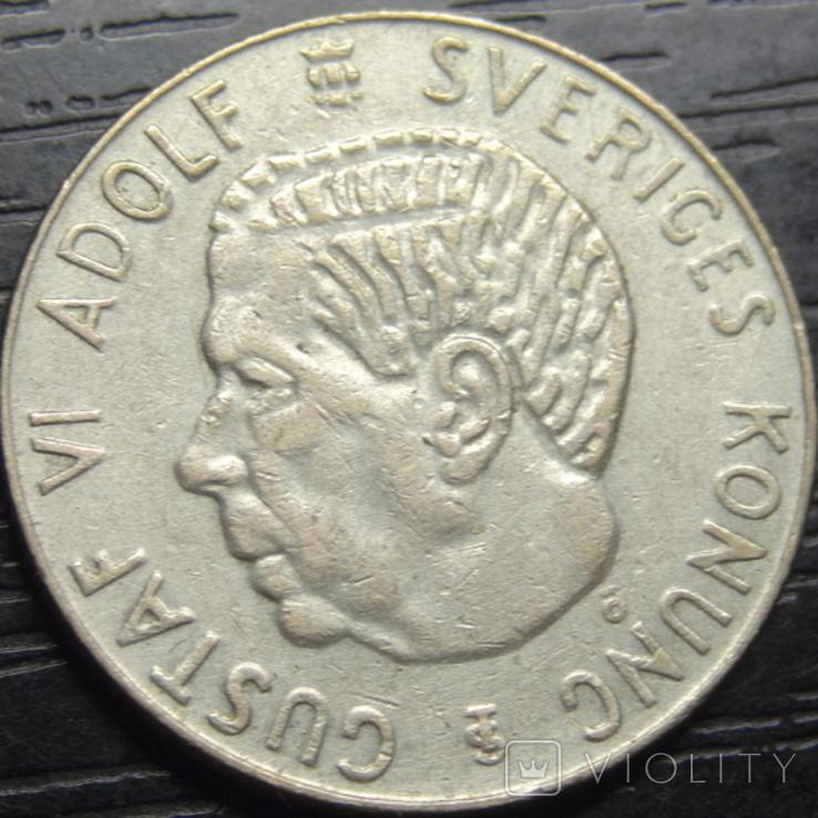 1 крона Швеція 1955 срібло, фото №3