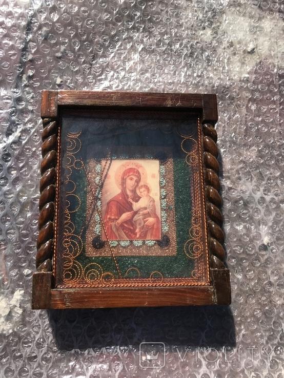 Икона Богородицы 19х17 см, фото №2