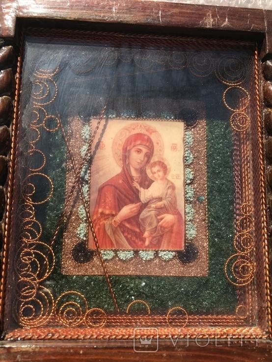 Икона Богородицы 19х17 см, фото №3