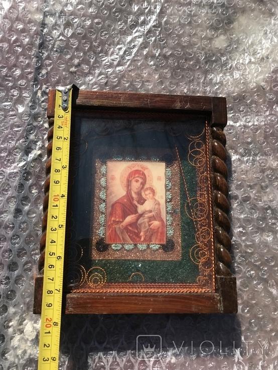 Икона Богородицы 19х17 см, фото №7