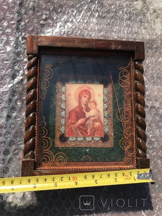 Икона Богородицы 19х17 см, фото №8