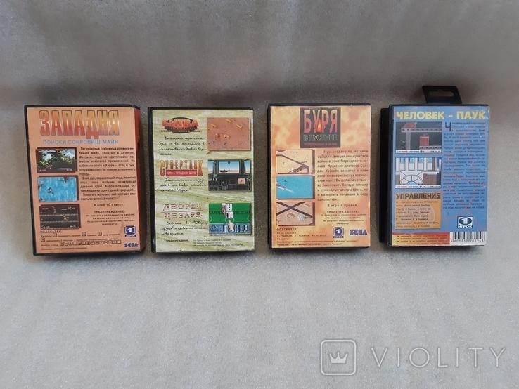 Картриджи для сега, 4 шт. в родных коробках, фото №3