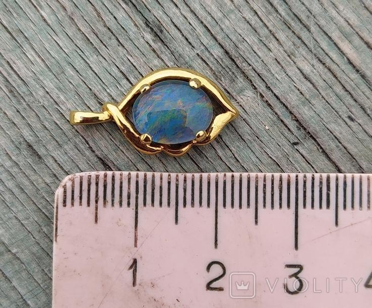 Кулон с натуральным опалом, серебро 925., фото №7