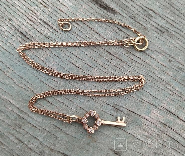 Золотой ключик с бриллиантами(невыкуп)., фото №2