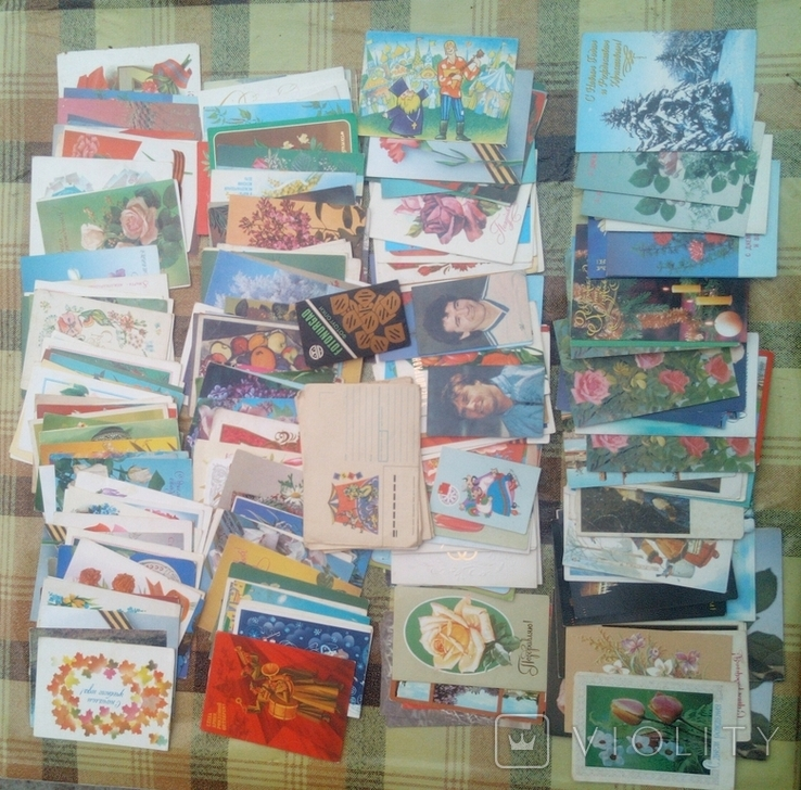 226 не подписанных открыток+бонус, фото №2