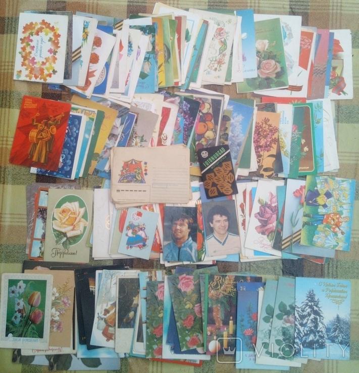 226 не подписанных открыток+бонус, фото №3