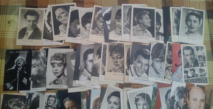 119 не подписанных открыток со знаменитостями ссср и ближнего зарубежья, фото №3