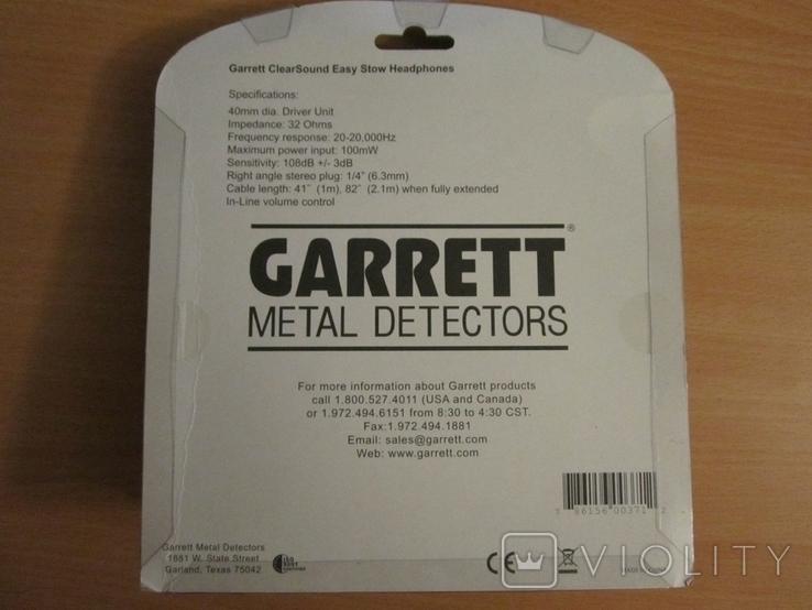 Оригинальные наушники Garrett ClearSound Easy Stow Headphones с регулятором громкости, фото №3