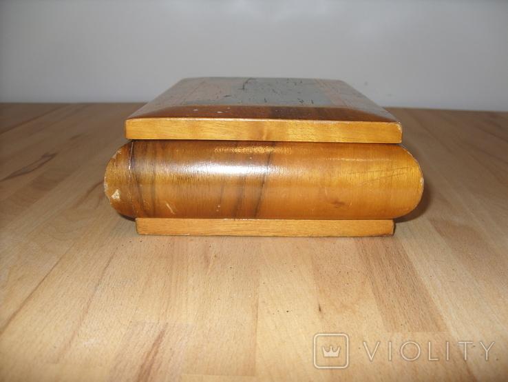 Шкатулка деревянная шпонированная СССР, фото №4