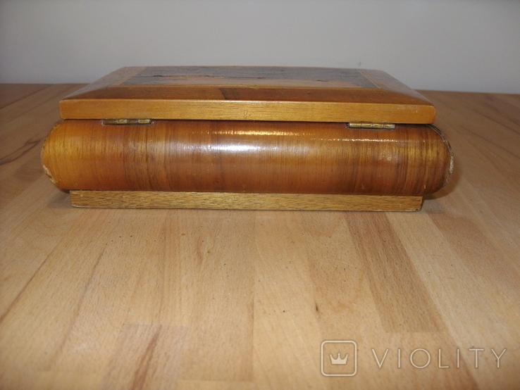Шкатулка деревянная шпонированная СССР, фото №5