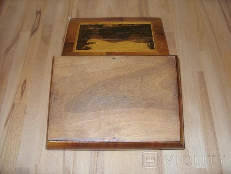 Шкатулка деревянная шпонированная СССР, фото №9
