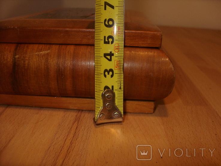 Шкатулка деревянная шпонированная СССР, фото №13