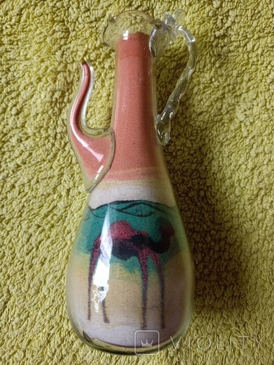Графин песочная копозиция верблюд, сувенир из Египта, фото №4