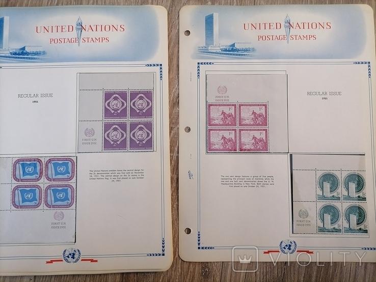 Марки ООН. 22 листа, фото №2