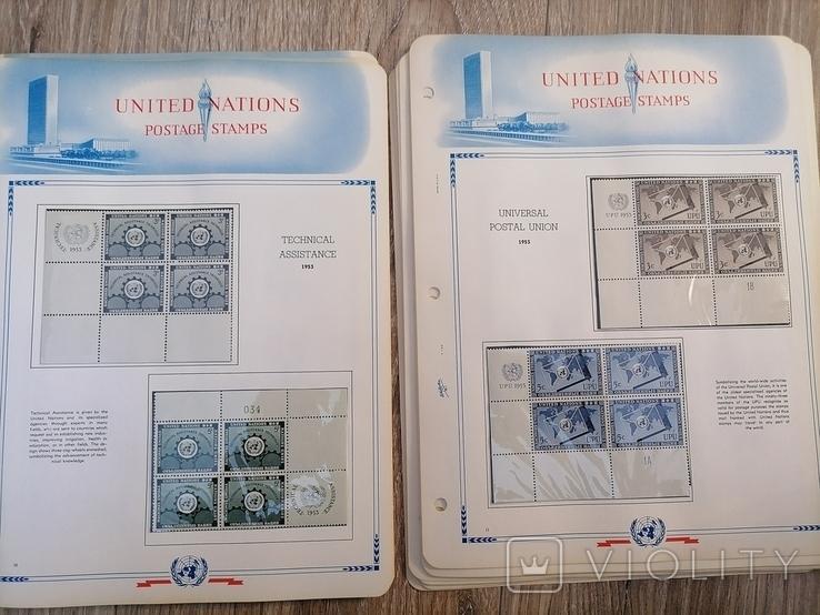 Марки ООН. 22 листа, фото №7