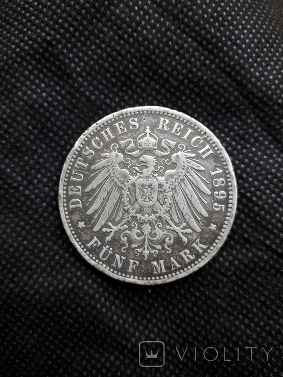 5 марок Германия 1895, фото №3