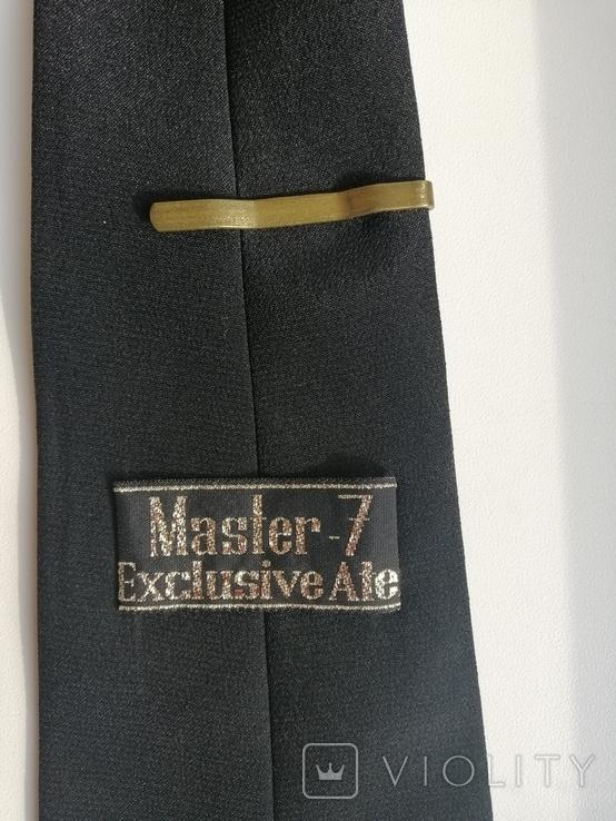 Генеральская шелковая рубашка с вышивкой, индпошив, с галстуком с вышивкой, фото №8
