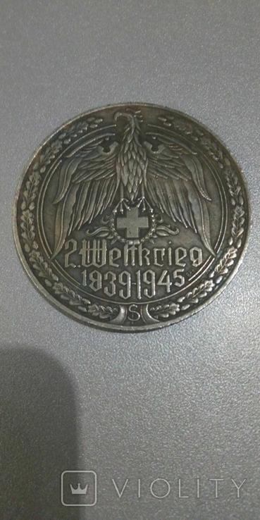 Медаль из серии оружие второй мировой войны 1939-1945гг пулемет МГ-42 копия, фото №3