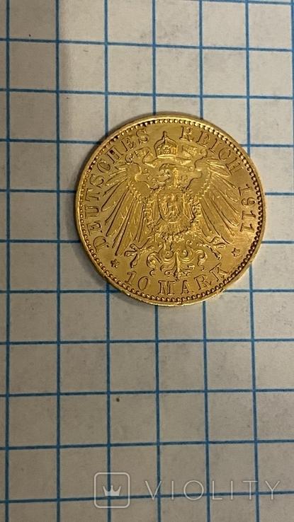50Марок.Пруссия.Золото.1889-1912гг., фото №9