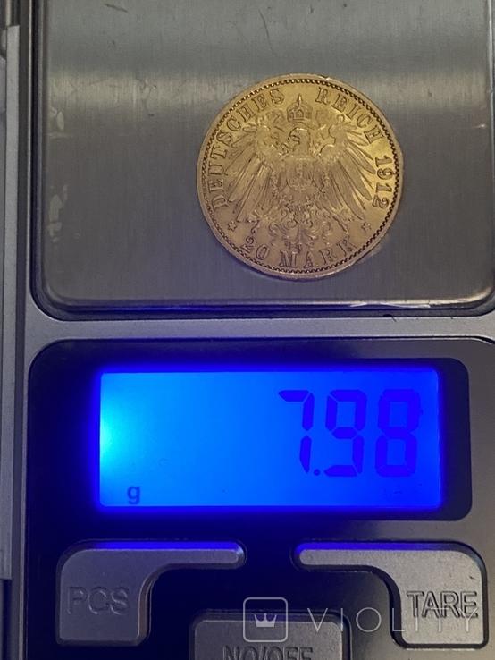 50Марок.Пруссия.Золото.1889-1912гг., фото №12