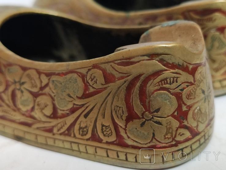 Пара восточной обуви - пепельницы, фото №7