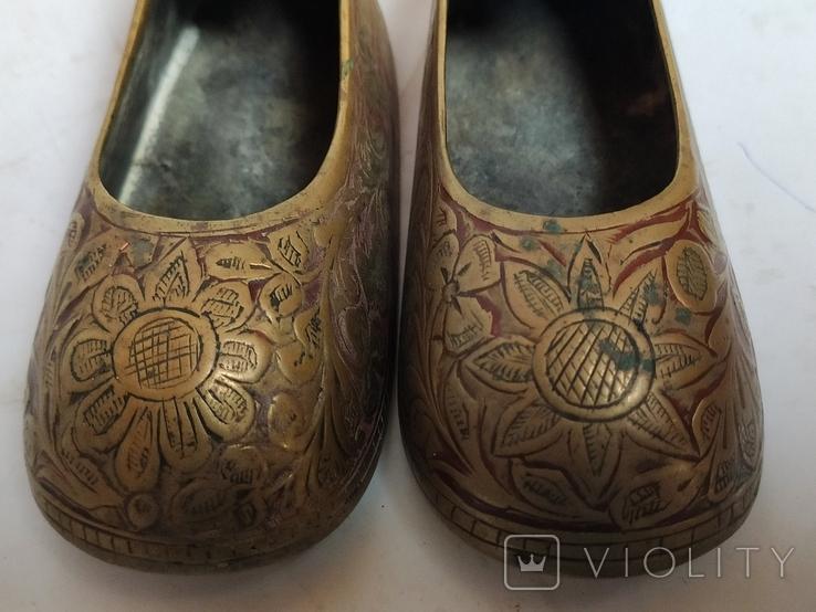 Пара восточной обуви - пепельницы, фото №8