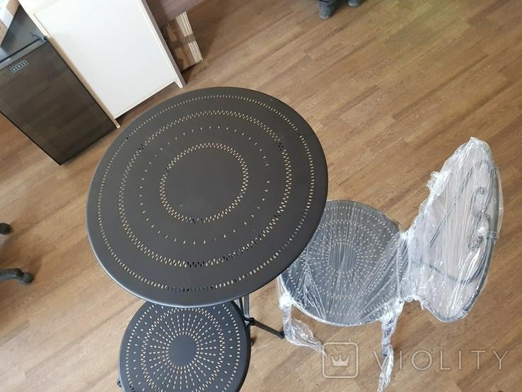Стол и 2 стула из металла, фото №3