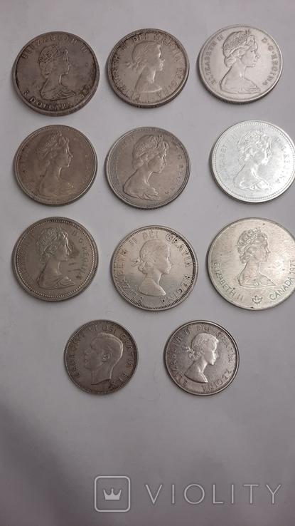 5 долларов1976,1989 ;1 доллар 1962,1964,1965,1966,1967,1972,1976;50центов 1951,1964 (11шт), фото №2