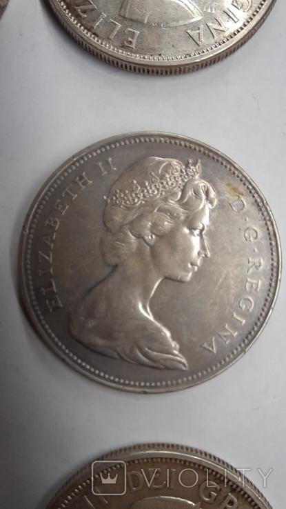 5 долларов1976,1989 ;1 доллар 1962,1964,1965,1966,1967,1972,1976;50центов 1951,1964 (11шт), фото №7