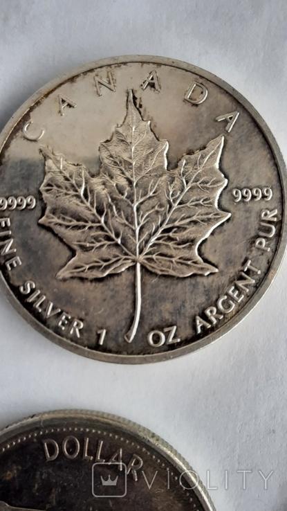 5 долларов1976,1989 ;1 доллар 1962,1964,1965,1966,1967,1972,1976;50центов 1951,1964 (11шт), фото №12