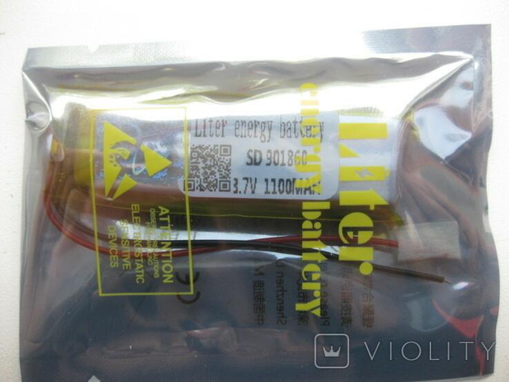 Акумулятор 1100мАг до Деус в комплекті з контактами, фото №2