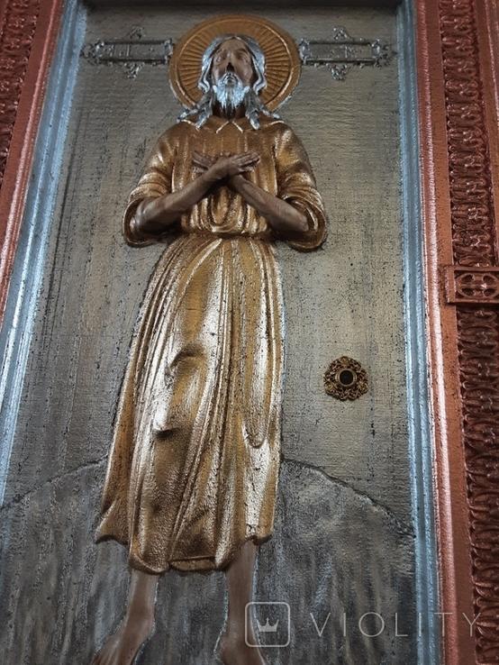 Мощевик-икона прп. Алексий, человек Божий с частичкой мощей святого., фото №4