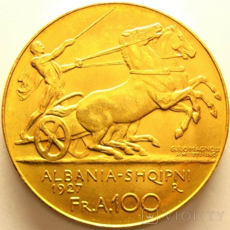 Албания 100 франга ари 1927 г., фото №4