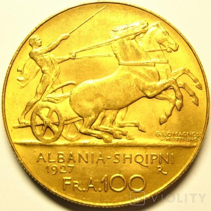 Албания 100 франга ари 1927 г., фото №5