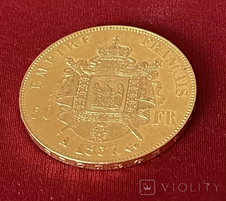 50 франків 1857 р. Наполеон ІІІ, фото №3