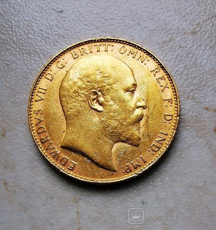 Соверен 1908 года Едвард VII, фото №2