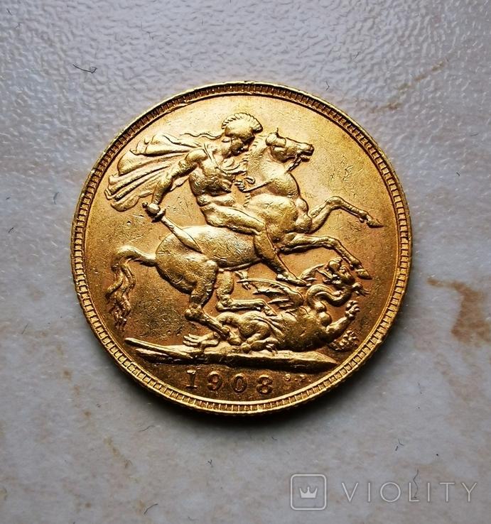 Соверен 1908 года Едвард VII, фото №4
