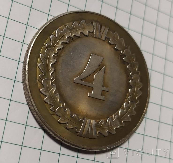 4года в Вермахте копия в медном сплаве покрыта серебром., фото №4