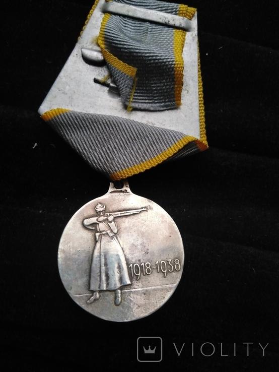 Медаль 20-ть лет РККА, серебряная копия, фото №5