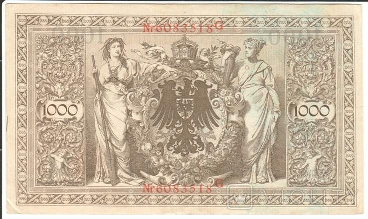 Германия 1000 марок 1910, фото №2