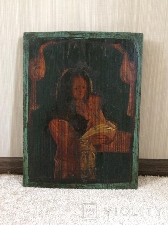 Икона 19 век без реставрации - размеры 375 х 285 мм, фото №4