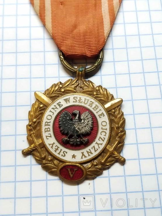 ПНР, медаль за 5 років вислуги у ВП., фото №3